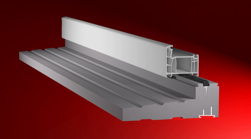 Ciepły parapet, profil drzwiowy, balkonowy, PD01XT